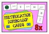 8x Times Table Multiplication Domino Loop Cards