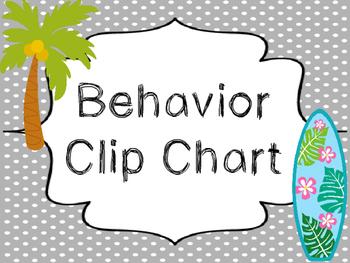 8x10 Beach themed Behavior Clip Chart-8 Cards