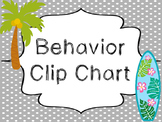 8x10 Beach themed Behavior Clip Chart-8 Cards