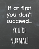 """""""If At First You Don't Succeed"""" Free Printable"""