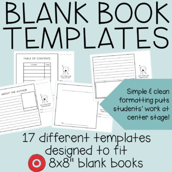 "8x8"" Blank Book Writing Templates"