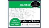 9-1 GCSE Mathematics Product of Primes