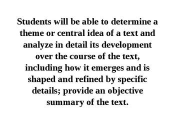 9-10th Grade CCSS ELA Classroom Displays
