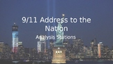 9/11 Address to the Nation by George W. Bush Rhetorical Analysis Stations