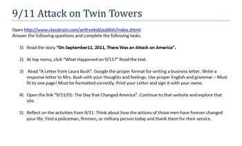 9/11 Alternative to Video Assignment
