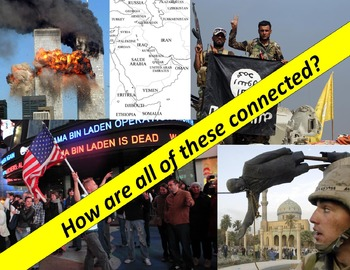 9/11: America in the Middle East Map with explanations, questions & quiz