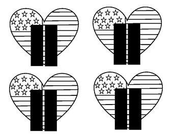 9/11 Coloring Symbol