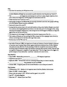 9-11 Note Sheet