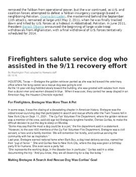 9/11 Texts & Analysis