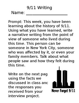 9/11 Writing Assignment