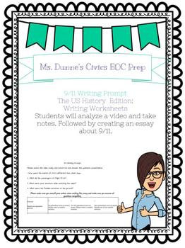 9/11 Writing Prompt and Rubric