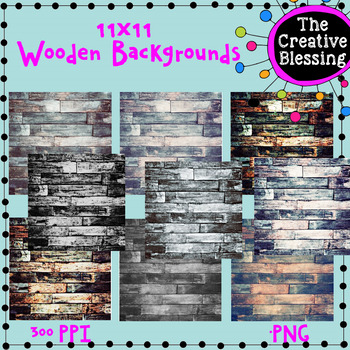9 11x11 Wooden Backgrounds