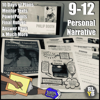 9-12 High School Personal Narrative (Family Narrative) Writing Unit