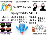 9-12th Grade Employability Skills Student Posters (With I Can Statements)