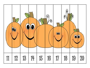9 Autumn Number Order Puzzles {FREEBIE}