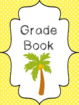 9 Beach themed Printable Binder and Spine Labels Classroom Organizer Set.