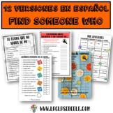 """9 VERSIONES """"FIND SOMEONE WHO"""" PARA LA CLASE DE ESPAÑOL"""