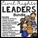 11 Civil Rights Leaders, articles, questions, DBQs, poems, MLK, Parks, etc.