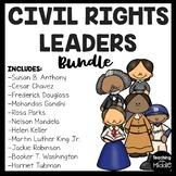 Civil Rights Leaders Reading Comprehension Bundle, Parks, MLK, Gandhi