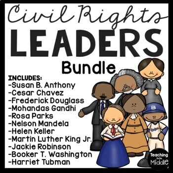 11 Civil Rights Leaders, articles, questions, DBQs, poems,
