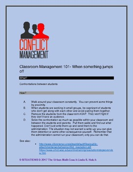9 Classroom Management Situations