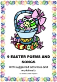 9 EASTER POEMS AND SONGS With suggested activities and worksheets