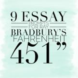9 Essay Prompts for Ray Bradbury's Fahrenheit 451
