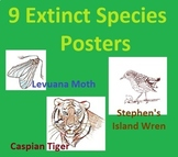 9 Extinct Species and Their Stories Posters: Art, Informat