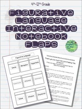Interactive Notebook, Figurative Language, Flaps