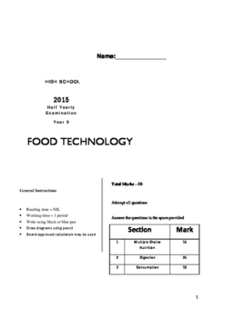 9 Food Exam