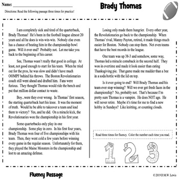 Football Reading Comprehension: Football Activities: Football Reading Passage