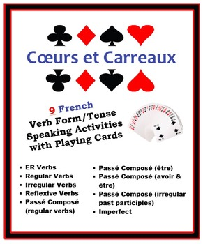 9 French Verb Form/Tenses Speaking Activities with Playing