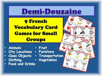 9 French Vocabulary Activities for Small Groups (Half Dozen, Demi Douzaine)