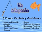 9 French Vocabulary Card Games (Va à la pêche-Go Fish)
