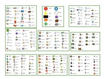 9 French Vocabulary Card Games (Va à la pêche-Go Fish)