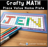 9 Graph Paper Place Value Nameplates Math Craft (From Crafty Math Bundle 3)