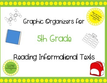 9 Graphic Organizers for 5th Grade Reading Informational Texts