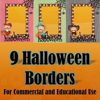 9 Halloween Borders for Commercial & Educational Use