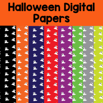 9 Halloween Digital Papers and backgrounds- ghosts