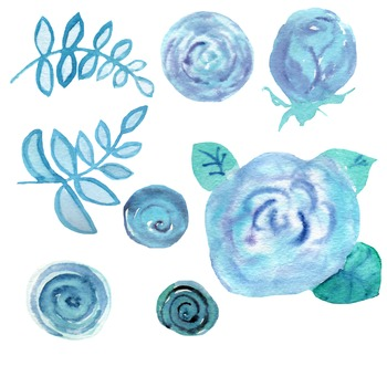 9 Hand-Painted Watercolor Pregnant Clip Art