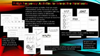 9 High Frequency Activities for Interactive Notebooks (and more)