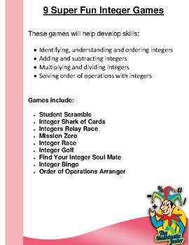 9 Integer Games