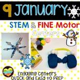 9 January STEM Fine Motor centers
