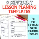 9 Lesson Planning Templates for Special Education Classrooms!