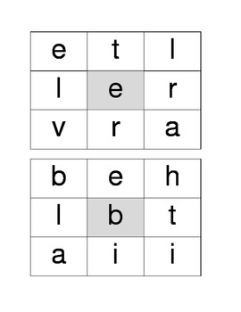 9-Letter Boggle Word Game
