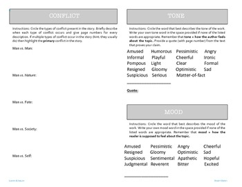 9 Literary Elements Booklet - Editable
