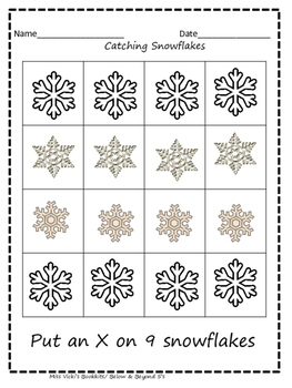9 Little Snowman and Snowflake Math Activities