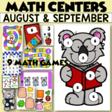 September Math Centers - First Grade - NINE Back to School Stations