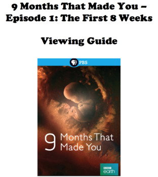 9 Months That Made You - Viewing Guide (**Episode 1 - The First 8 Weeks)