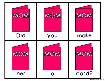 9 Mother's Day Scrambled Sentences PLUS Recording Page
